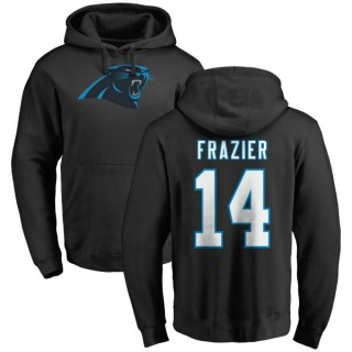 Youth Mose Frazier Carolina Panthers Black Pro Line Any Name & Number Logo Pullover Hoodie
